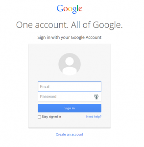 Google Drive Fake Log-in page