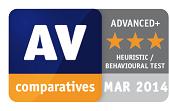 AV-Comparative in Heuristic Behavioural Test Advanced+ 2014-03