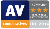 AV-Comparative in Real-World Protection Test Advanced+ 2014-07