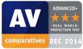 AV-Comparative in Real-World Protection Test Advanced+ 2014-12